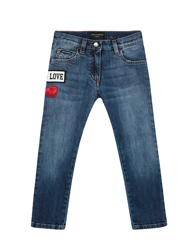 Купить Брюки джинсовые Dolce&Gabbana детские, Голубой, 97%хлопок+3%эластан