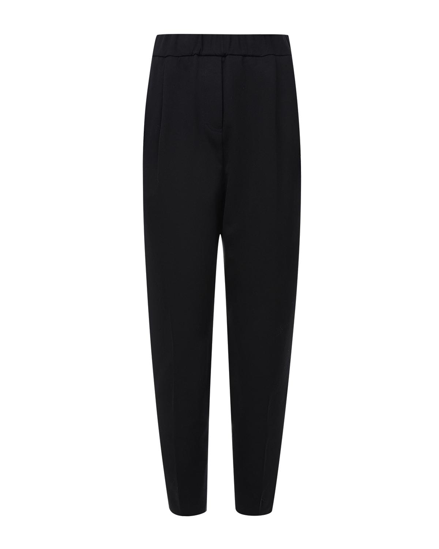 Купить Укороченные брюки с защипами TWINSET, Черный, 68%ацетат+32%полиэстер, 68%вискоза+27%полиамид+5%эластан