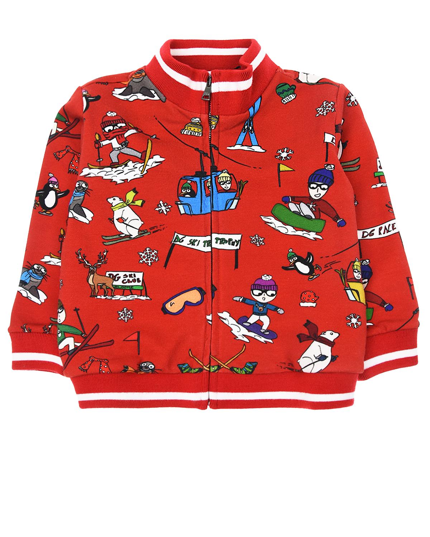 Купить Спортивная куртка с принтом, Dolce&Gabbana