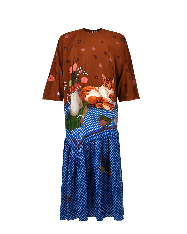 Платье из шелка с принтом Alena Akhmadullina фото