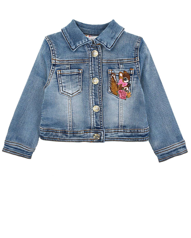 Купить Джинсовая куртка с аппликациями Monnalisa