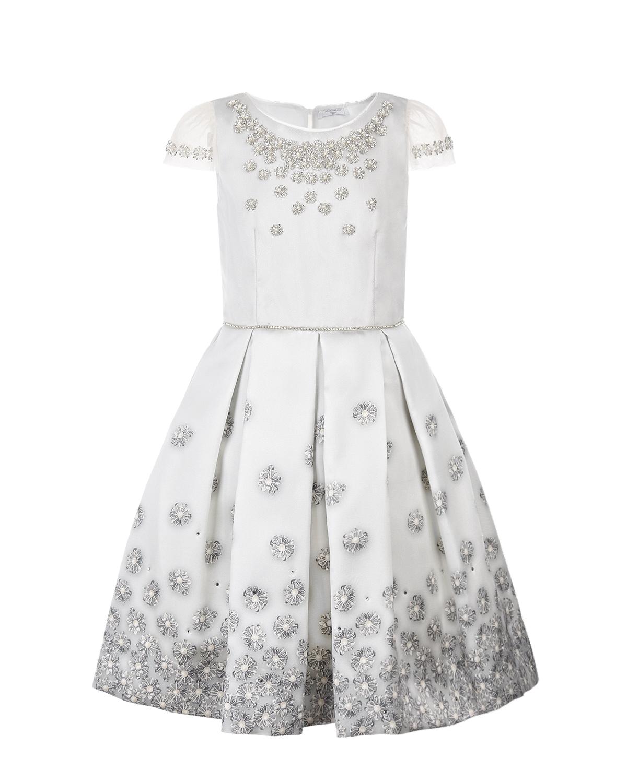 Платье со стразами Monnalisa детское фото