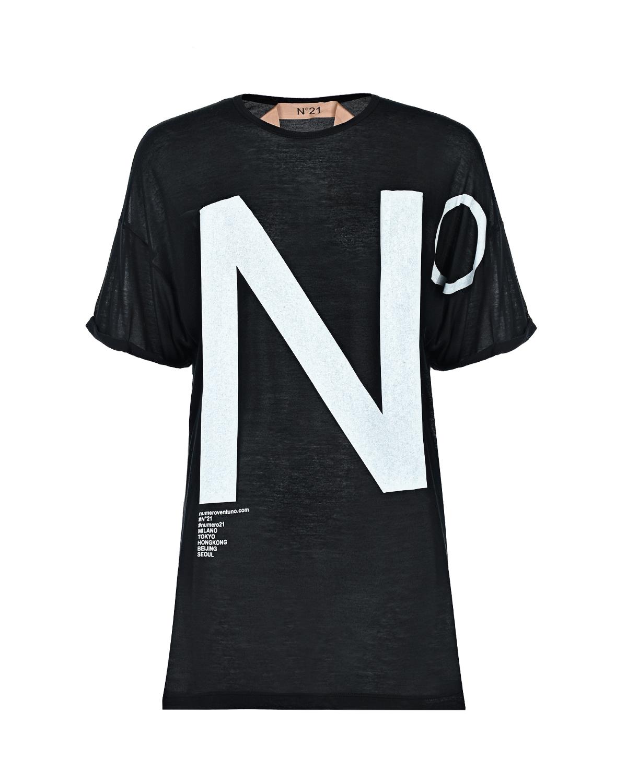 Купить Черная футболка с логотипом No. 21
