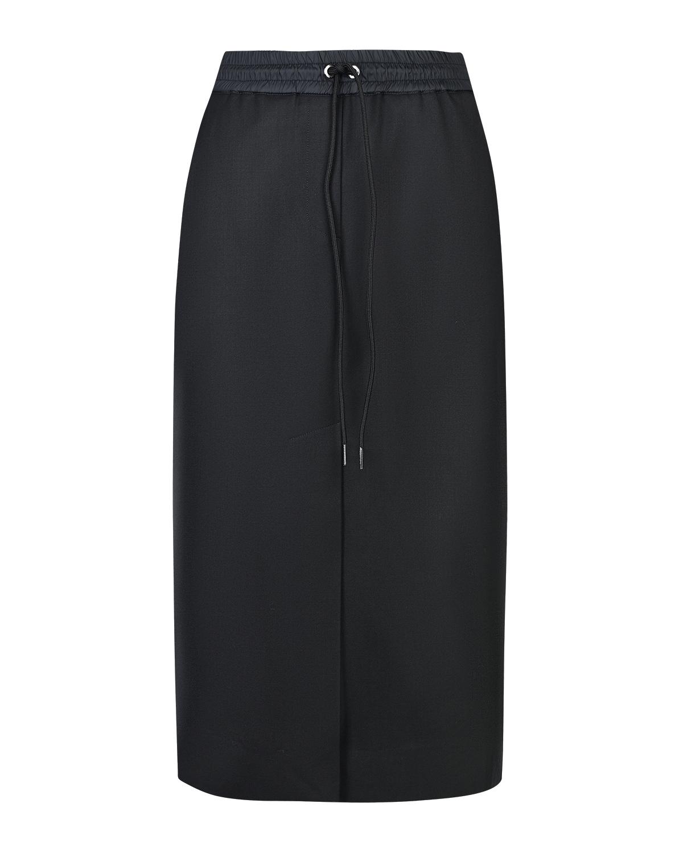 Купить Черная юбка с поясом на кулиске Parosh