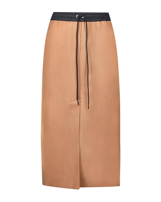 Купить Бежевая юбка с поясом на кулиске Parosh