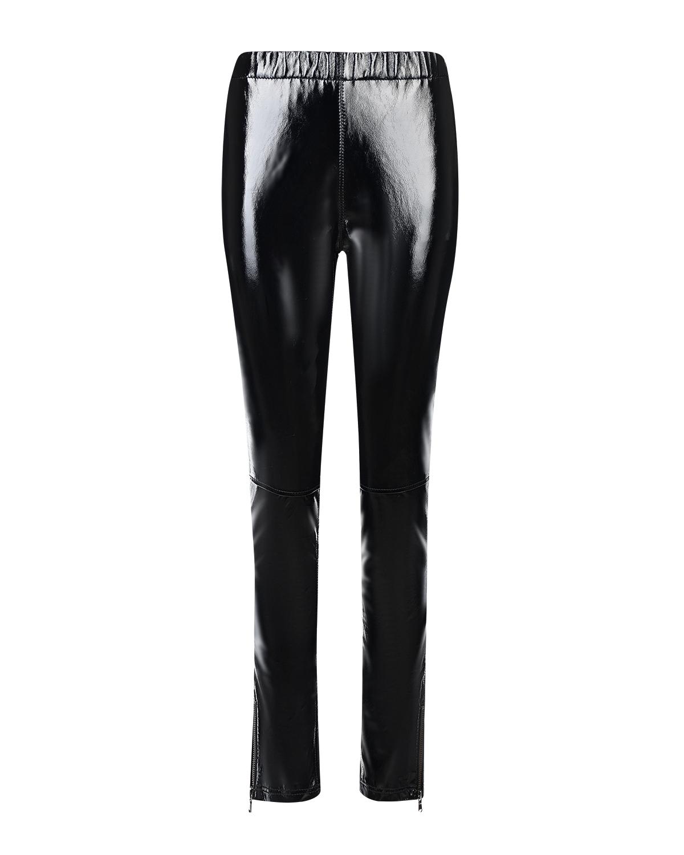 Черные брюки из виниловой кожи Parosh фото