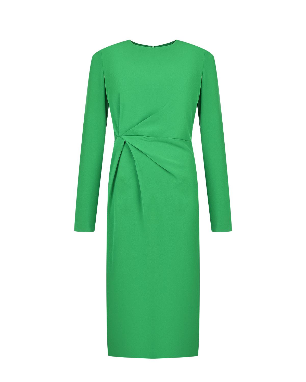 Зеленое платье с драпировкой Parosh фото
