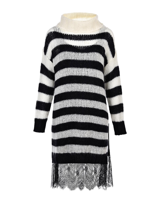 Платье в полоску с комбинацией TWINSET фото