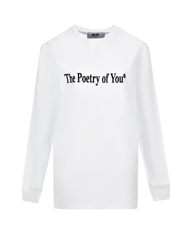 """Купить со скидкой Свитшот с надписью """"Poetry of you"""" MSGM"""