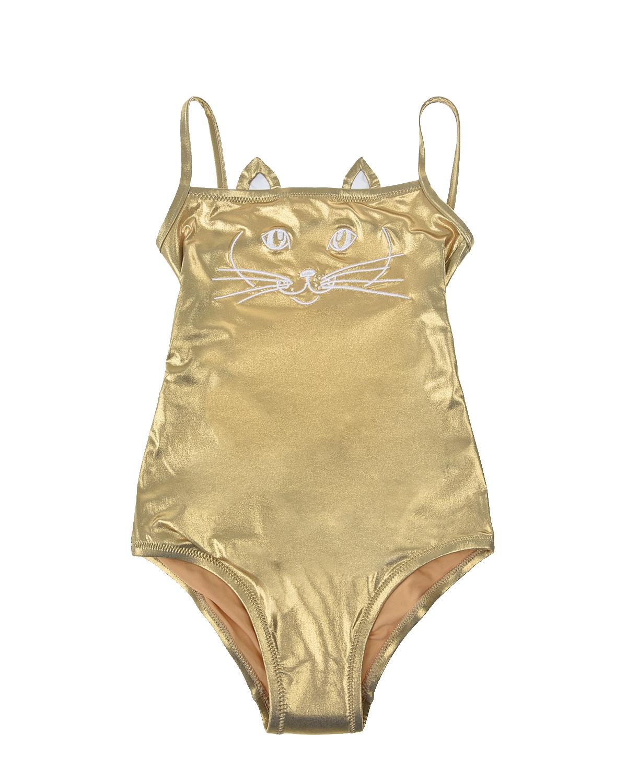 Купить Слитный купальник золотистого цвета NATAYAKIM детский, Золотой, 85%полиамид+15%эластан