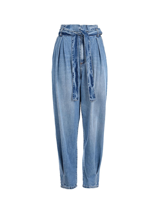 Купить Синие джинсы-бананы Red Valentino, Синий, 100% хлопок, 66%полиэстер+34%хлопок