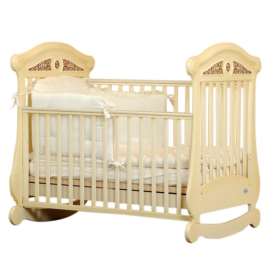 Кроватка коллекция Fiorentino Fiore (цвет слоновая кость)Кровати для новорождённых<br><br>