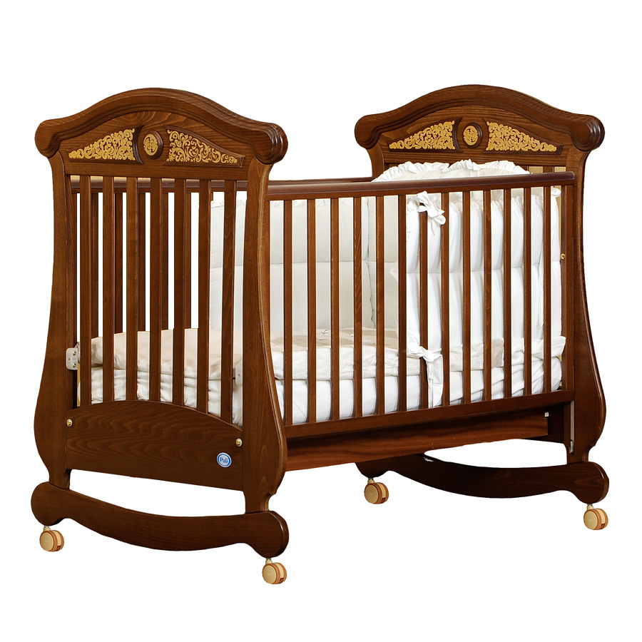 Кроватка коллекция Fiorentino Fiore (цвет орех)Кровати для новорождённых<br><br>
