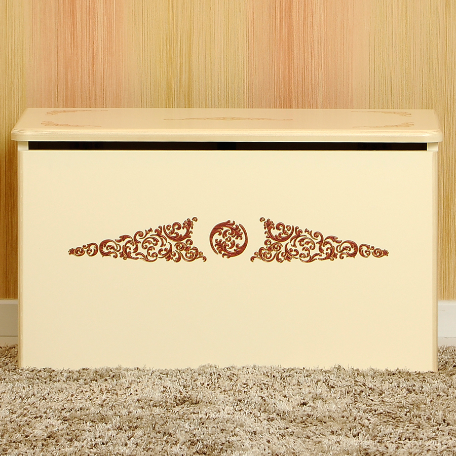Ящик для игрушек коллекция Fiorentino Fiore (цвет слоновая кость)Ящики для игрушек<br><br>