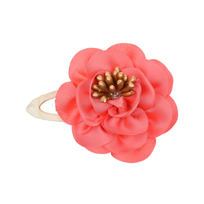 Купить Заколка клик-клак с цветком Junefee детская, Нет цвета, текстиль