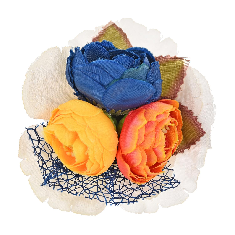 Бутоньерка с разноцветными цветами Junefee детская