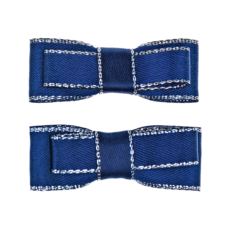 Купить Зажим для волос Small Bow 2 шт, синий Junefee детский, Нет цвета, текстиль