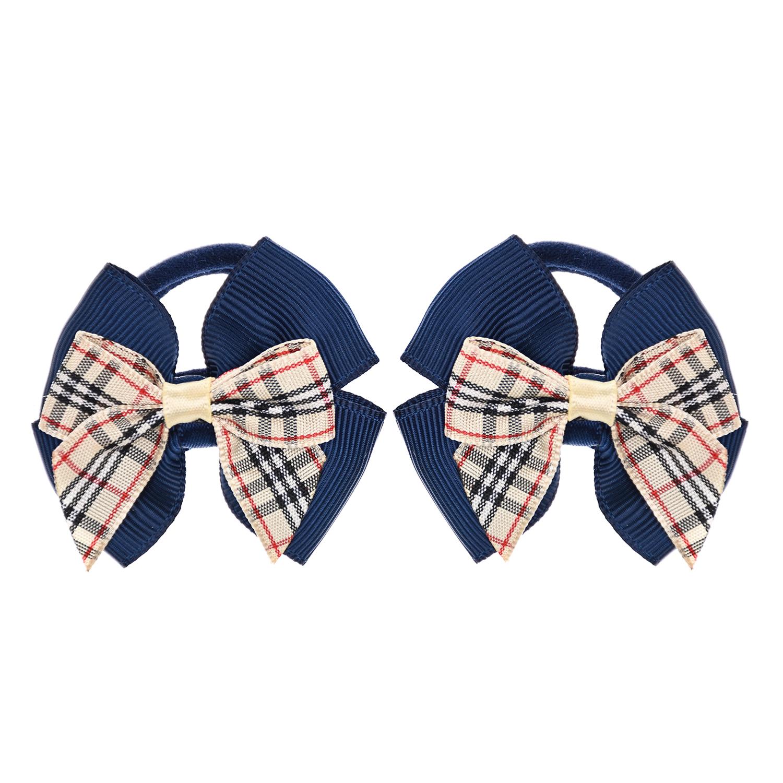 Резинка для волос School Bow but 2 шт, синий Junefee детская фото