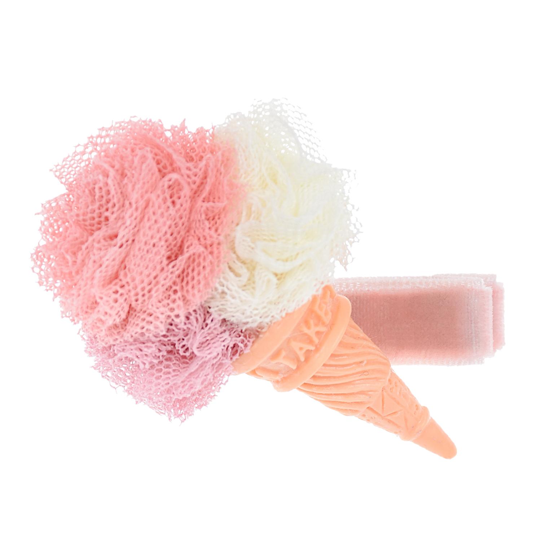 Купить Зажим для волос розовый, с мороженым Rena Chris детский, Нет цвета, см. на уп.