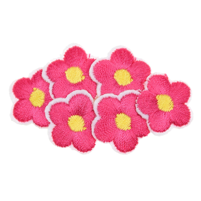 Малиновая заколка клик-клак с цветочной вышивкой Rena Chris детская