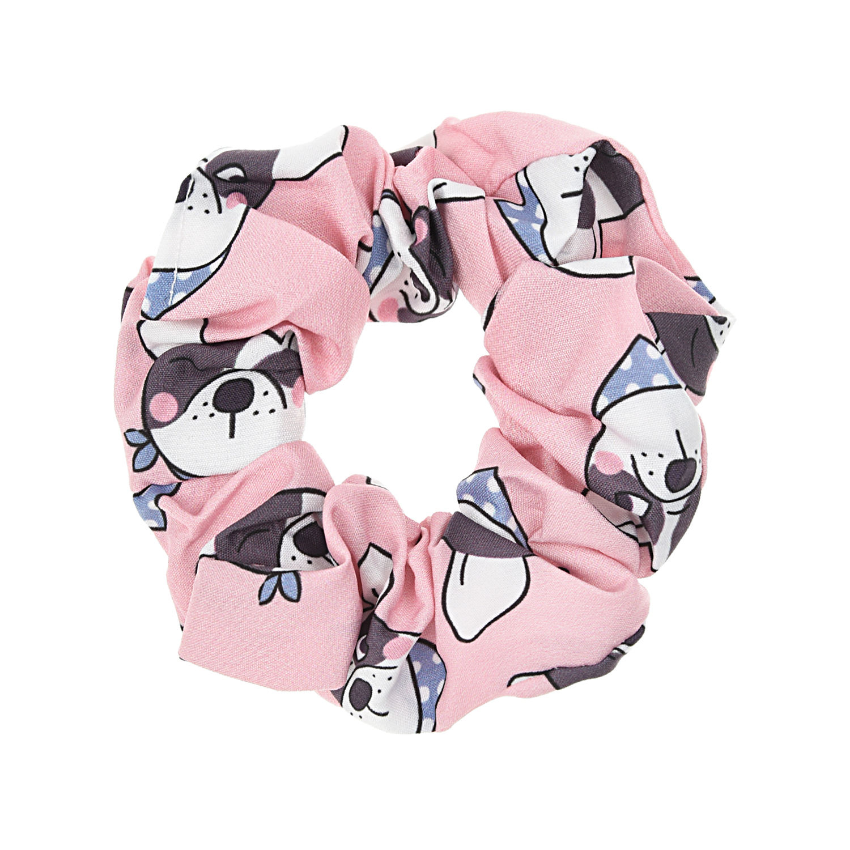 Купить Розовая резинка для волос с принтом Собачки Tais детская, Нет цвета, см.на упак.