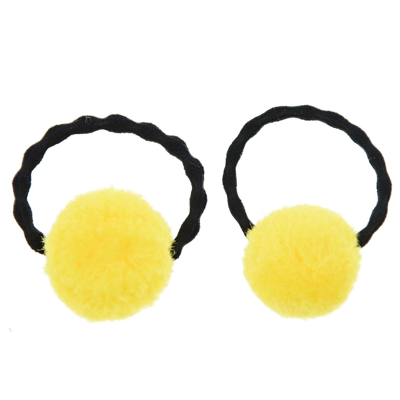 Купить Резинка для волос с желтыми помпонами Tais детская, Нет цвета, см.на упак.