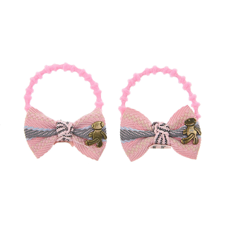Купить Розовая резинка для волос с бантиками Tais детская, Нет цвета, см.на упак.