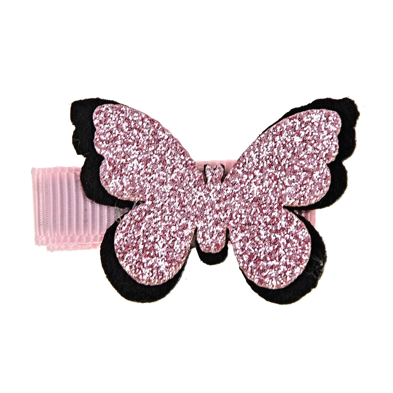 Купить Зажим для волос Розовая бабочка Tais детский, Нет цвета, см.на упак.