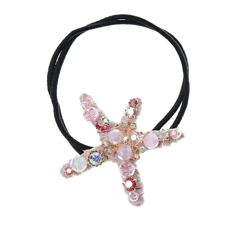 Резинка для волос, звезда морская, розовая Tais детская фото