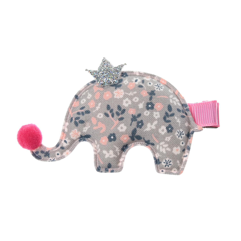 Купить Зажим для волос Слон, серый Tais детский, Нет цвета, пластик, акрил, металл, текстиль