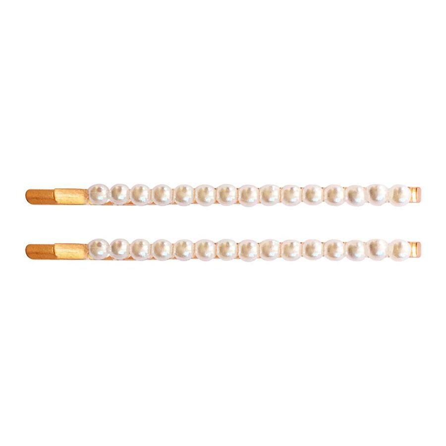 Купить Набор из двух невидимок с мелким жемчугом, коллекция Pearl Milledeux детский, Нет цвета, см. на уп