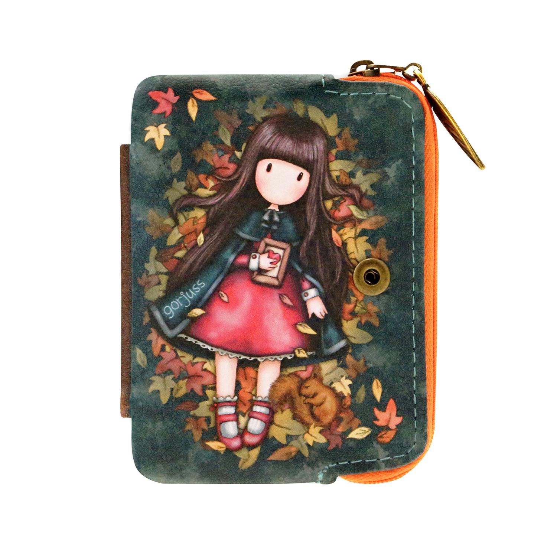 Купить Кошелек складной, Gorjuss Autumn Leaves, 10 x 11.7 x 2.5 см Santoro детский, Нет цвета, см. на уп.