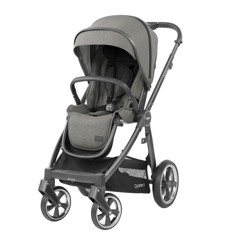 Купить Детская прогулочная коляска Oyster 3 Mercury City Grey, Нет цвета, металл, пластик, полиэстр