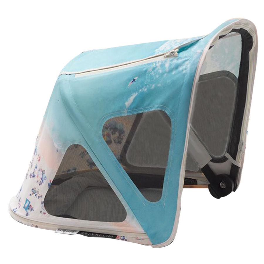 Купить Капюшон от солнца для коляски Bugaboo Cameleon3/Fox breezy GRAY MALIN, Нет цвета, 100% полиэстер с защитой от от ультрафиолета 50+