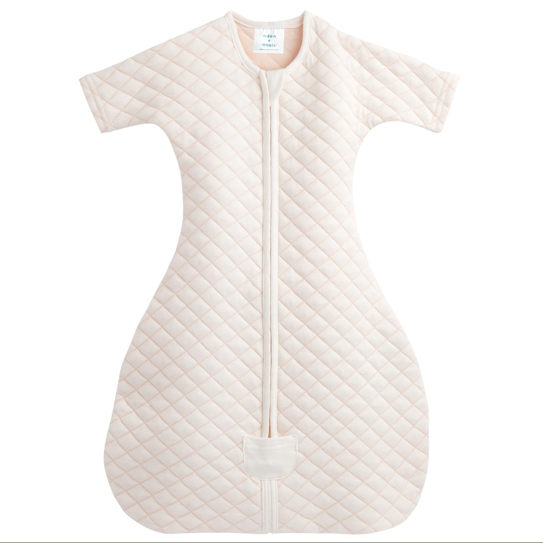 Купить Спальный комбинезон snug fit sleeved cream/pink Aden & Anais детский, Нет цвета, хлопок