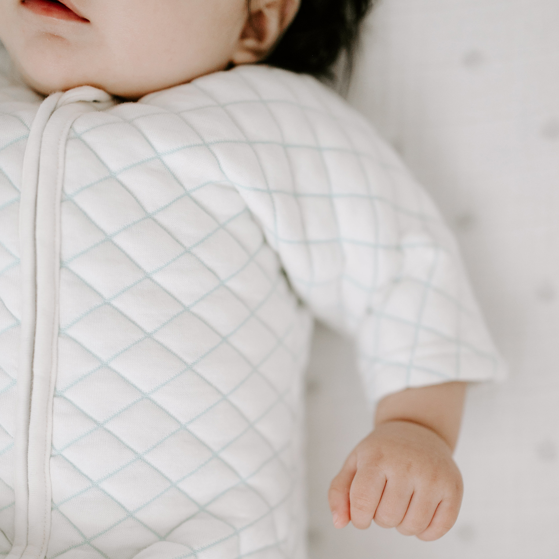 Купить Спальный комбинезон snug fit sleeved cream/mint Aden & Anais детский, Нет цвета, хлопок