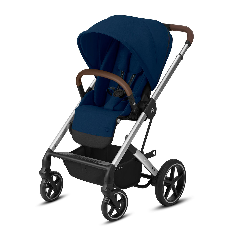 Купить Прогулочная коляска Balios S Lux SLV Navy Blue с дождевиком CYBEX, Нет цвета, Полиэстер, металл, пластик