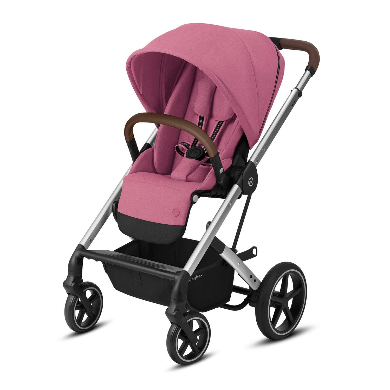Прогулочная коляска Balios S Lux SLV Magnolia Pink с дождевиком CYBEX, Нет цвета, Полиэстер, металл, пластик  - купить со скидкой