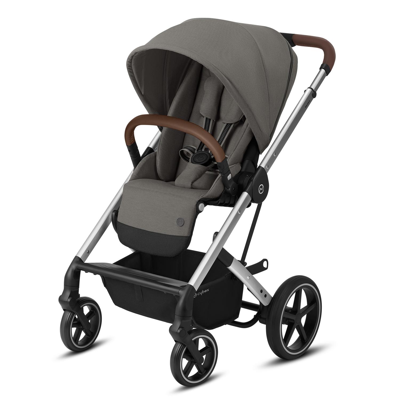 Купить Прогулочная коляска Balios S Lux SLV Soho Grey с дождевиком CYBEX, Нет цвета, Полиэстер, металл, пластик