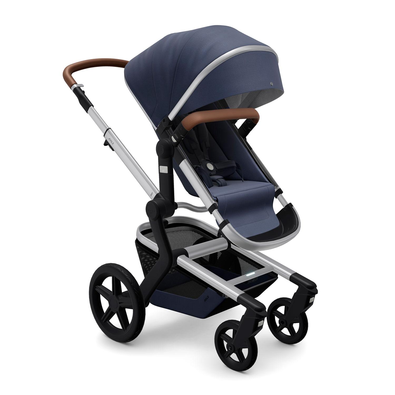 Купить Детская коляска Joolz Day+ Classic Blue, Нет цвета, металл, пластмасса, хлопок, полиэстер, поливинилхлорид, резина