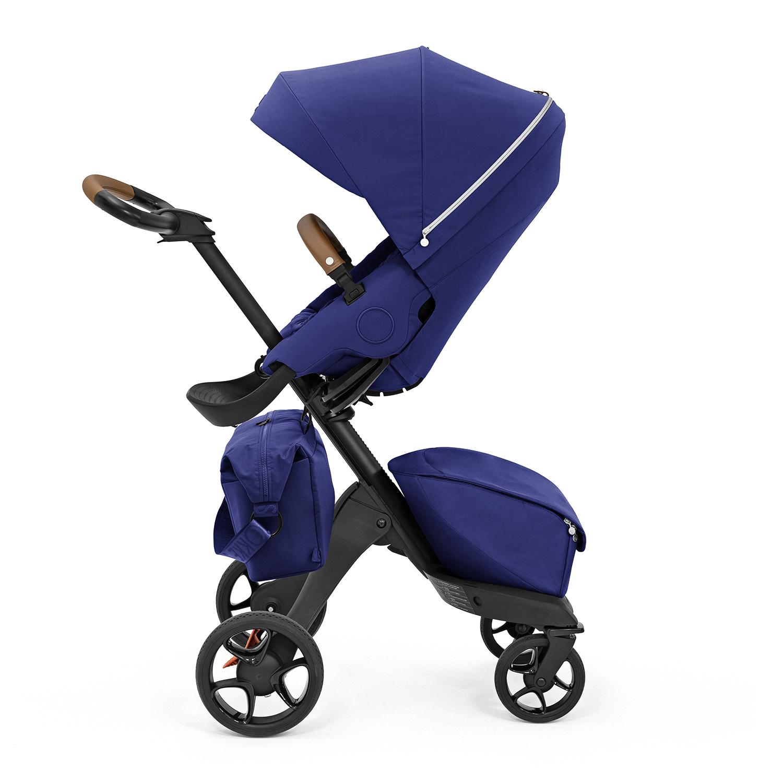 Купить Коляска прогулочная XPLORY X Black/Royal blue 571403 Stokke, Нет цвета, основа пластиковая, крепления металлические, обивка: полиэфирное волокно, наполнитель: вспененный полиуретан 100%