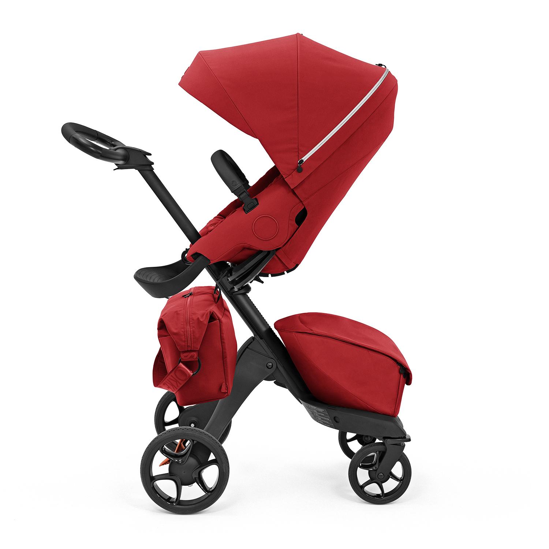 Купить Коляска прогулочная XPLORY X Black/Ruby red 571404 Stokke, Нет цвета, основа пластиковая, крепления металлические, обивка: полиэфирное волокно, наполнитель: вспененный полиуретан 100%