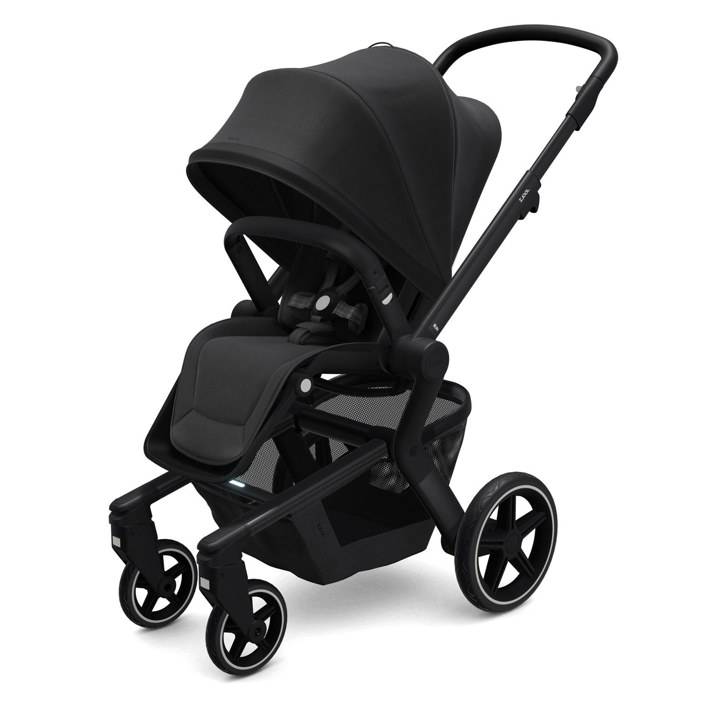Купить Детская коляска Joolz Hub+, Brilliant Black, Нет цвета, металл, пластмасса, хлопок, полиэстер, поливинилхлорид, резина