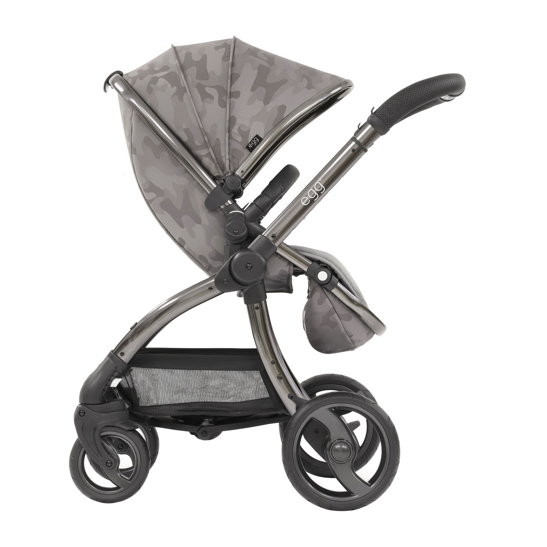 Купить Коляска egg Stroller Camo Grey & Anodised Chassis, Нет цвета, Полиэстер, полиуретан, алюминий, полипропилен