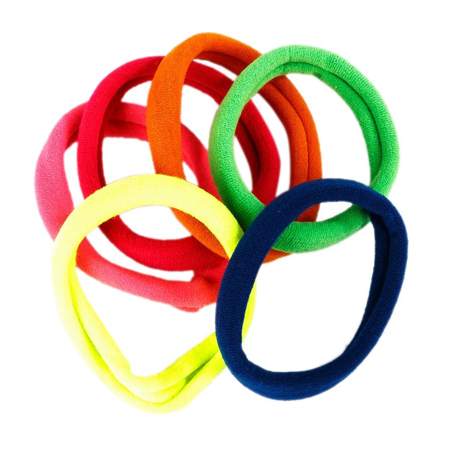 Купить Набор из шести разноцветных резинок big size Tais детский, Нет цвета, см. на уп.