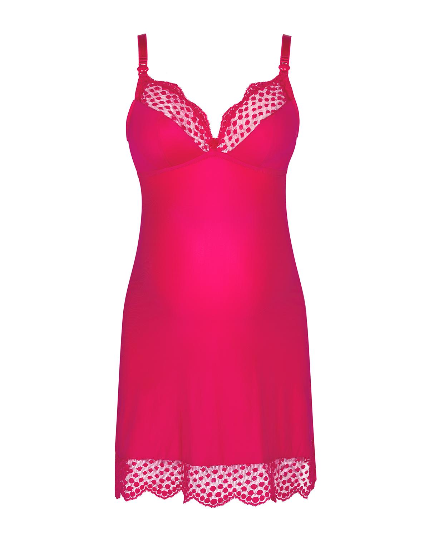 Купить Ночная сорочка Lollypop, розовый Cache Coeur, Розовый, 34%полиамид+24%хлопок+20%полиэстер+13%полиуретан+9%эластан