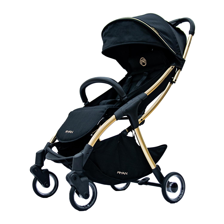 Купить Прогулочная коляска PRIME Light Royal Black GOLD Special Edition 2 RYAN, Нет цвета, Алюминий, пластик, эко. Кожа, хлопок, полиэстр