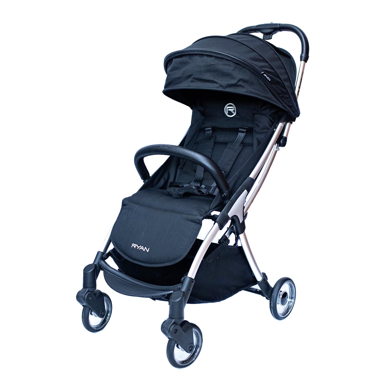 Купить Прогулочная коляска Prime Lite Auto Folding Jack black RYAN, Нет цвета, Алюминий, пластик, эко. Кожа, хлопок, полиэстр