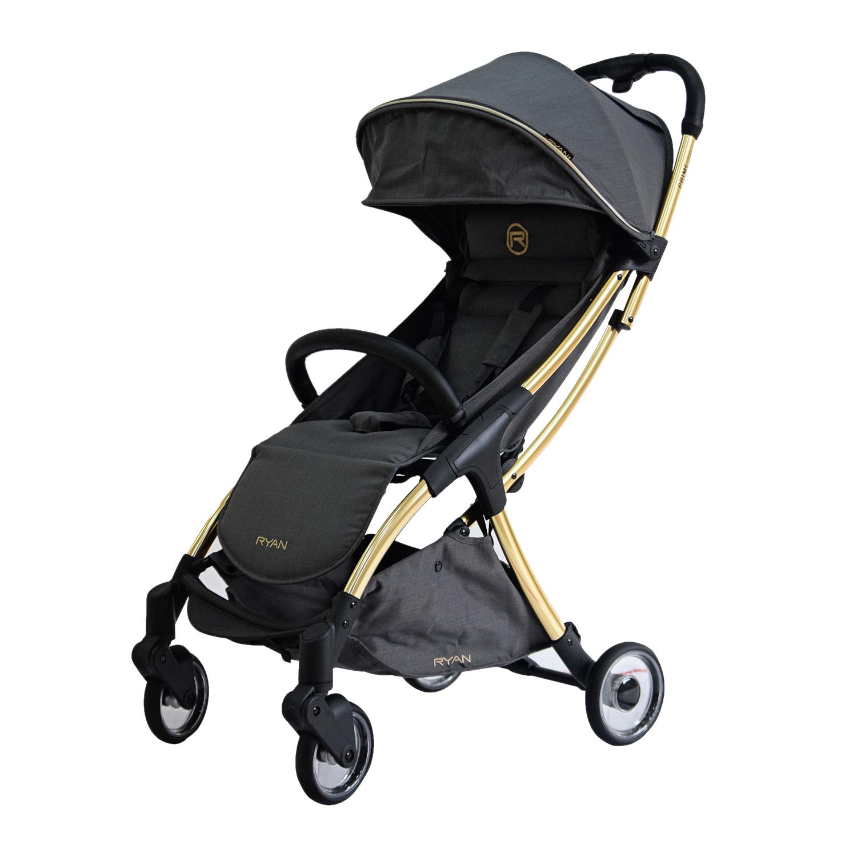 Купить Прогулочная коляска PRIME Light Rich Gray GOLD Special Edition 2020 RYAN, Нет цвета, Алюминий, пластик, эко. Кожа, хлопок, полиэстр