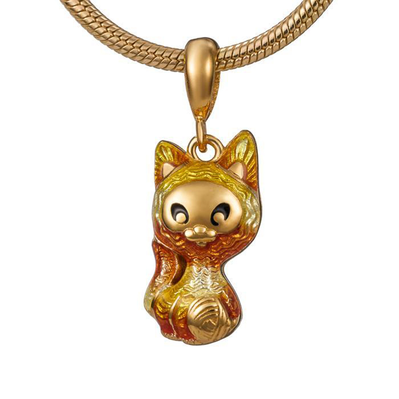 Купить Кулон эмалевый Семейная Игривый котенок Namfleg детский, Нет цвета, серебро
